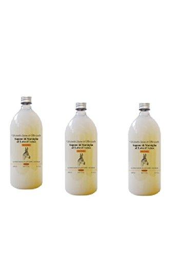 BIOMEDA - 3 CONF DI SAPONE DI MARSIGLIA AL LATTE D'ASINA 500 ML vitamine, acidi grassi, antiossidante