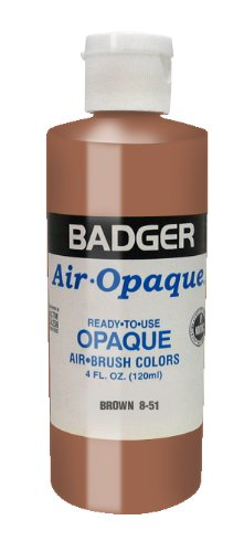 Badger Air-Brush Company Air-Opaque Airbrush Ready Water Based Acrylic Paint, Brown, 4-Ounce by Badger Air-Brush Co.   B00462QCKU