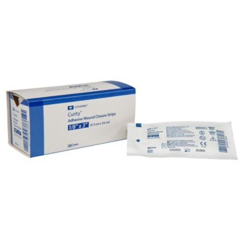 Covidien 9891 Curity Adhesive Wound Closure Strips, 1/4'' x 1-1/2'' Size (Pack of 1200)
