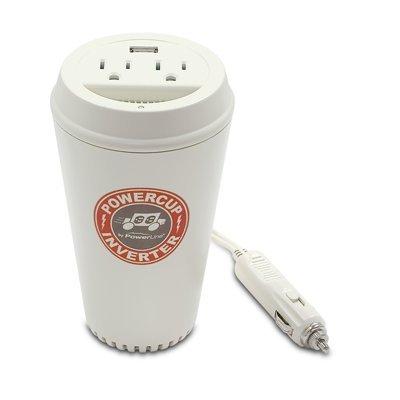 - PowerLine PowerCup 200/400 Watt Mobile Inverter with USB Power Port 90309