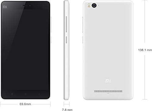 Xiaomi Mi 4i Dual SIM -16GB, 2GB RAM, 4G LTE, White: Amazon com