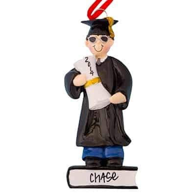 Graduation Guy - Guy Graduation - (Unique Christmas Tree Ornament - Classic Decor for A Holiday Party - Custom Decorations for Family Kids Baby Military Sports Or Pets)