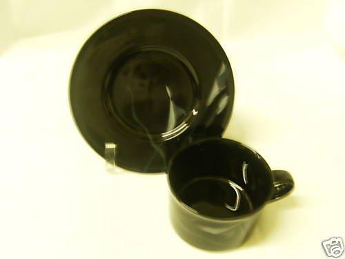 (Mikasa Galleria Opus Black Calla Lilly Tea Cup and Saucer Set)
