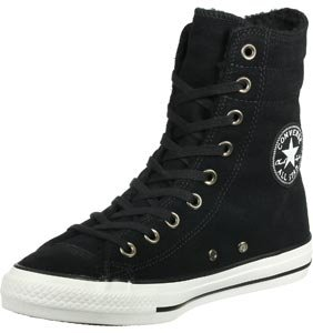 Converse All Star Suede Sherling X-Hi W chaussures 9,0 black