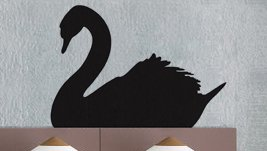 uBer Decals Vinyl Wall Decal Sticker Swan 273 29x39 inches