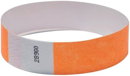 "200 Plain Neon Green 3//4/"" Tyvek Paper Wristbands for Events,Festivals,Parties"