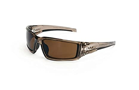 40e6aa7729 Image Unavailable. Image not available for. Color  Smoke Brown Uvex  Hypershock Safety Glasses - Espresso polarized ...