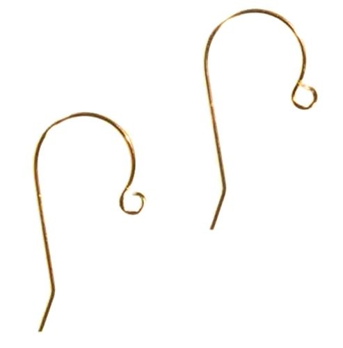 14k Solid Yellow Gold Earwire 13/16 Inch .020