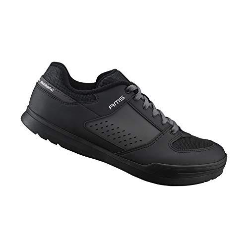 (SHIMANO SH-AM501 LSG Series Enduro, Trail, Downhill Cycling Performance SPD Bicycle Shoes, Black, 43)