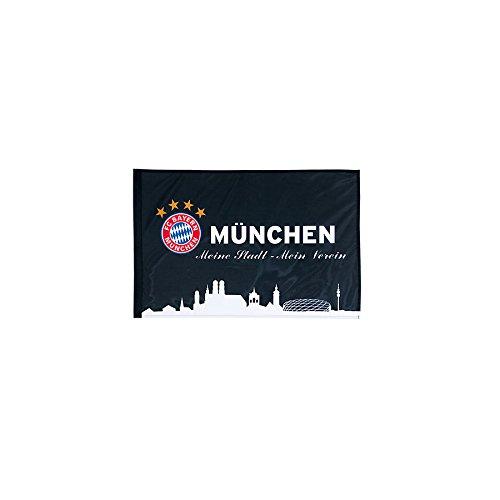FC Bayern München München schwarz 60 x 40 cm mit Stock