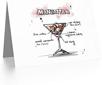 Manhattan With Cherry Blank Note Greeting Card
