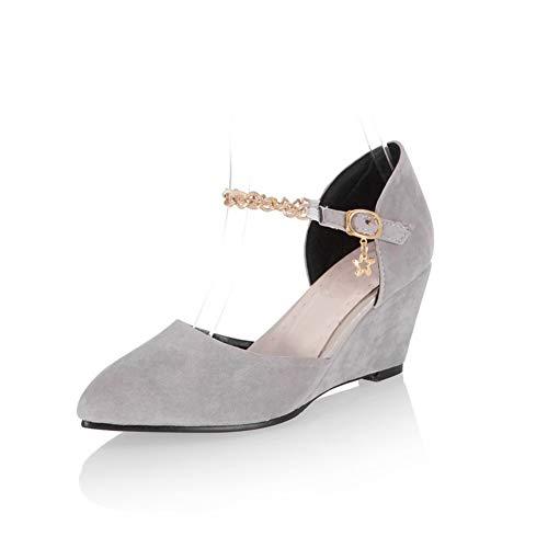 Sandales Compensées MJS03541 Gris Femme Inconnu 1TO9 EqROwfEA