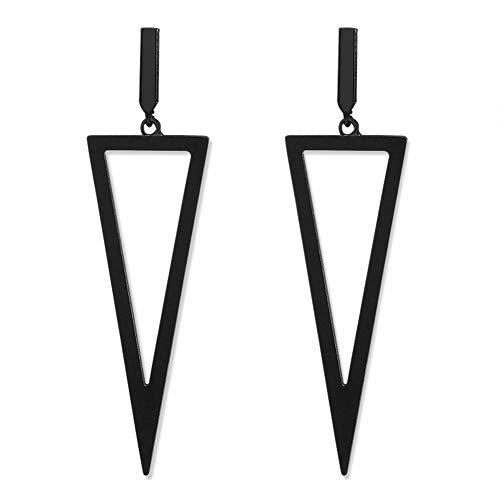 LILIE&WHITE Fashion Women Triangle Drop Dangle Earrings Geometric Jewelry Punk Gift Jet