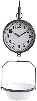 Creative Co-op DA8470 White Decorative Reproduction Scale Wall Clock
