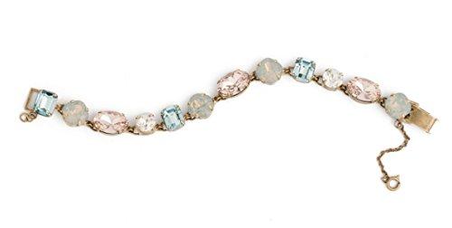 Sorrelli Coastal Mist Vintage Rose & Denim Mix Antique Goldtone Crystal Bracelet