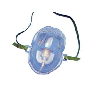 55001200 - AirLife Medium Concentration Vinyl Oxygen Mask Medium, Clear by Carefusion