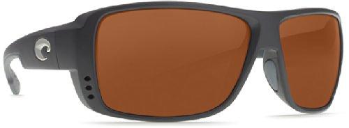 Costa Del Mar Double Haul Men's Polarized Sunglasses, Black/Copper Glass - W580, - Haul Sunglasses