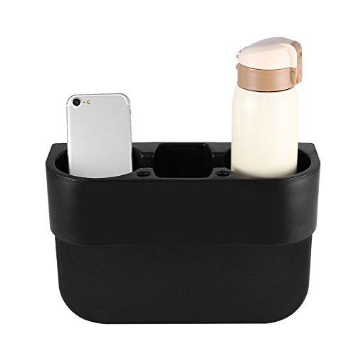 Swiftswan Autositz Getränkehalter Mülleimer Dose Flasche Essen Halterung Ständer Aufbewahrungsbox (Farbe: Schwarz)