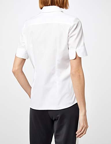 001 Seidensticker Corta De Manga white Blusa Regular Blanco Para Mujer Fit wfHwxRn1q7