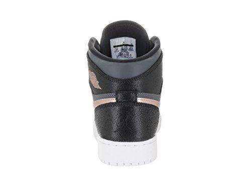Nike Boys' Air Jordan 1 Retro High Bg Basketball Shoes Black XhWKo