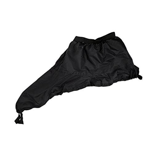 Baosity Waterproof Spray Skirt Deck Sprayskirt Cockpit Cover Universal for Kayak, Canoe, Boat and Water Sports - Black, (Boat Cockpit Cover)