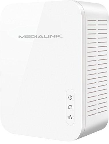 Medialink Gigabit Powerline Adapter Kit (2 Units) - Ethernet Homeplug with Gigabit (1000 Mbps) Wired Speed (Part# MPLA-1000X2) by Mediabridge (Image #3)