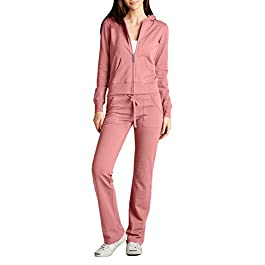 NE PEOPLE Womens Casual Basic Terry Zip Up Hoodie Sweatsuit Tracksuit Set S-3XL