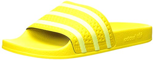 adidas Originals Women's Adilette Slide Sandal, semi Frozen Yellow, 9 M US ()