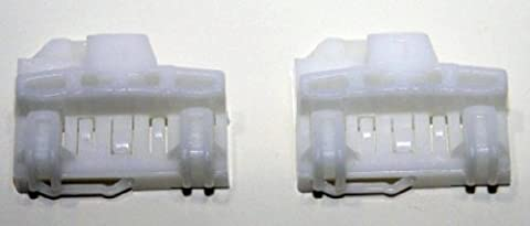 RegulatorFix Audi A4 (B5) Window Regulator Repair Clips (2x) - FRONT LEFT (driver side pair) PAIR - Window Regulator Repair