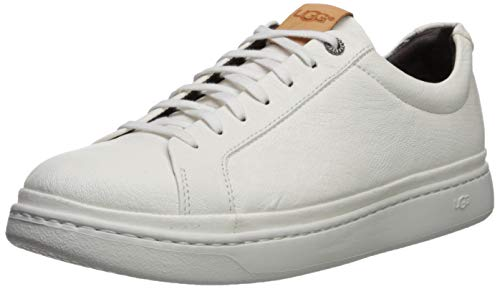 UGG Men's CALI LACE Low Leather Sneaker, White, 13 Medium US (Leather Uggs)