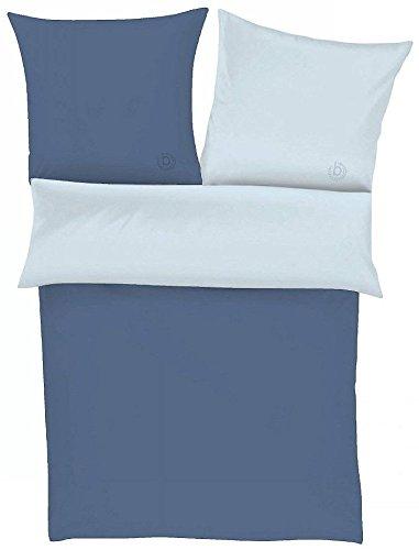 Perkal-Bettwäsche bugatti, hellblau/blau - 135 x 200 cm