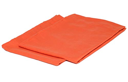 College Colors Pillowcases 100% Brushed Microfiber, Hypoallergenic Pillow Cover - Dorm Bedding Soft, Stain, Fade and Wrinkle Resistant (Standard 20x30 - 2 Pack, Dark Orange)
