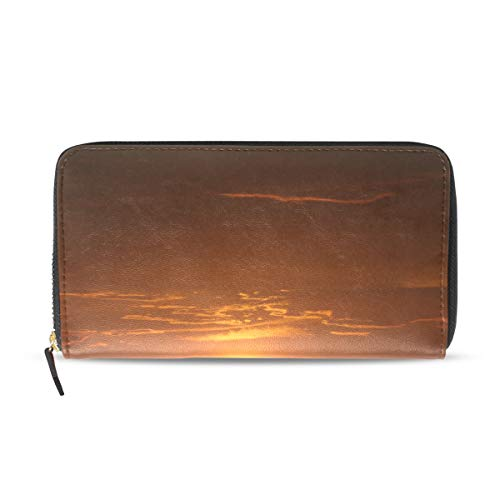 se With Linear Reflection Leather Passport Wallet Coin Purse Girls Handbags ()