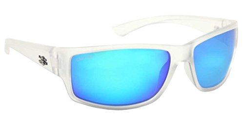 Calcutta Rip Sunglasses, Crystal Frame/Blue Mirror - Sunglasses Crystal Frame