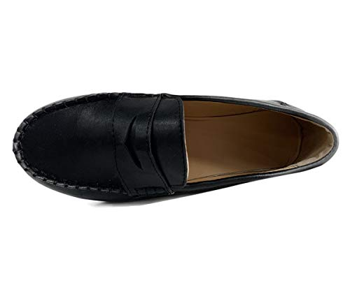 Nero Primavera Da Mocassino Barca Estate Scarpe Pantofole Confortevole In Testa Tomwell Flat Casual Pelle Donna Rotonda B5HxZOqnwZ