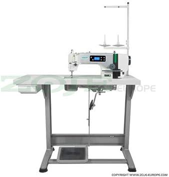 ZOJE ZJ-A6000-G - Máquina de Coser Industrial (Ajuste automático de la Aguja, botón servomotor en la Cabeza): Amazon.es: Hogar