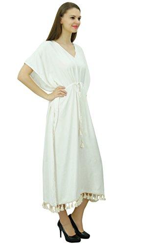 Bimba Frauen Lange Maxi Kimono Kaftan Rayon Nacht Kleid Kordel ...