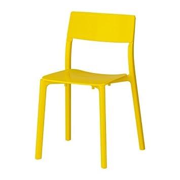 Ikea Janinge Chaise Empilable Jaune Amazon Fr Cuisine