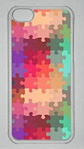 Abstract jigsaw customized Hard iphone 5C PC transparent Case