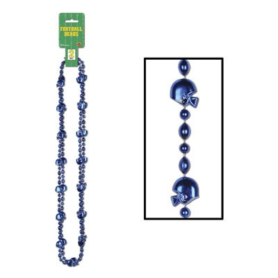 Football Beads (blue)    (2/Card)]()