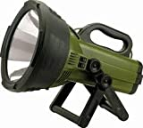 Cyclops THOR X Colossus 18 Million Candle Power Spot Light, Featuring a Philips 130 H4 Watt Halogen Bulb, Equipped with a Powerful 12V 7Ah Sealed Lead Acid Battery, Made with Durable Rubberized Construction, Handy Adjustable Swivel Stand, Includes AC/DC adapter and BONUS 12V DC Car Plug Adapter