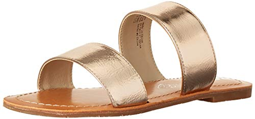 BC Footwear Women's Perfectly Crafted Flat Sandal, Rose Gold, 10.0 Medium US