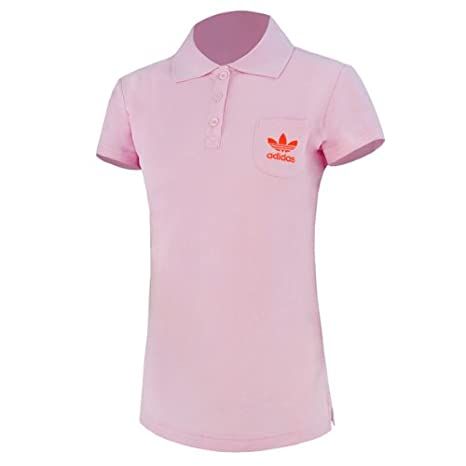 adidas Basic Polo Shirt Women fresh candy-poppy - 42: Amazon.es ...