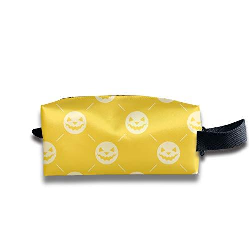 KaiyuanMYRUN Halloween Pattern Design Women Cosmetic Bag Travel Girls Oxford Toiletry Bags Elegant Portable Hanging Organizer Makeup Pouch Pencil Case