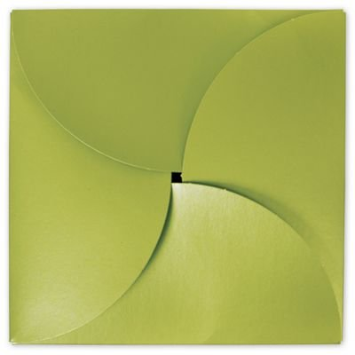 Shimmer Green Gift Card Folders, 6 x 6'' (100 Boxes) - BOWS-503-GCF-55 by BAG123