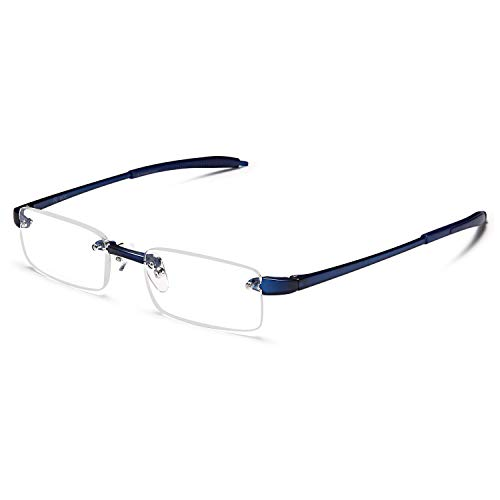 ALTEC VISION Reading Glasses for Men and Women Rimless Readers - 2.50