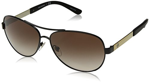 Tory Burch TY6047 Sunglasses 310013-59 - Black/Gold Frame, Smoke Gradient - Sunglasses Tori Burch