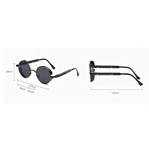 única Vasos y Sabarry polarisierenden de Gafas Efecto Redondo 3 pequeñas 1 Espejo para Talla Hombre Mujer Sol Sol Gafas de con Verde wRwBqS