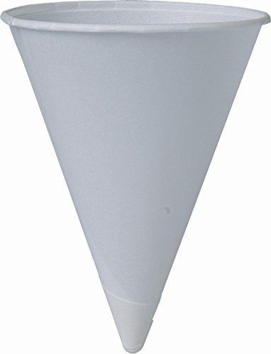 SOLO Cup Company 4BR-2050 4BR-2050-800 4BR Piece Cone Water Cold, Paper, White, 4 Ounce. 800 Count (4 x 200 Packs) by SOLO Cup Company