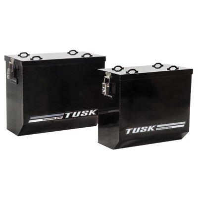Tusk HD Aluminum Dual Sport Adventure Panniers- Large Black by Tusk